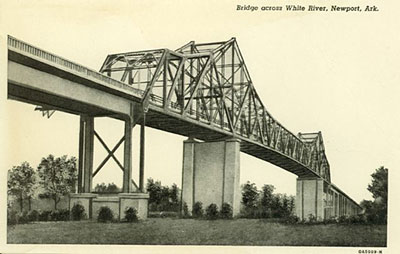 Bridge across White River in Newport, Arkansas